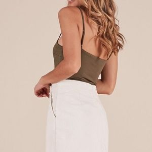 434edc5b99 Skirts - Not That Girl skirt in white corduroy